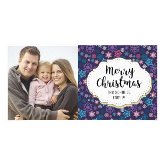 Holiday Snowflakes Christmas Picture Photo Card