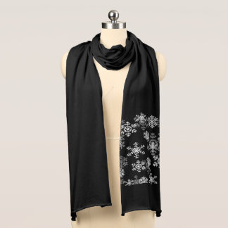 Holiday Snowflakes Knit Scarf