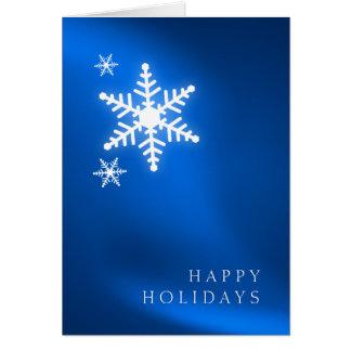 Holiday Snowflakes Royal Blue card
