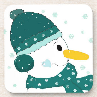 Holiday Snowman Beverage Coasters