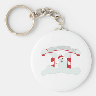 Holiday Snowman Keychains
