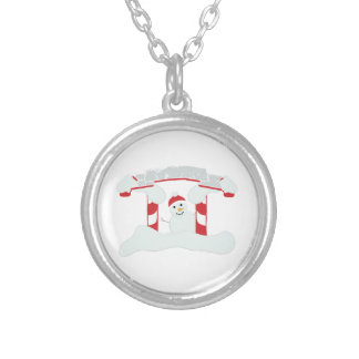 Holiday Snowman Personalized Necklace