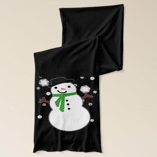 Holiday Snowman Scarf Wrap