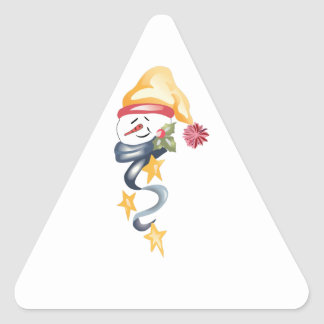 HOLIDAY SNOWMAN TRIANGLE STICKER