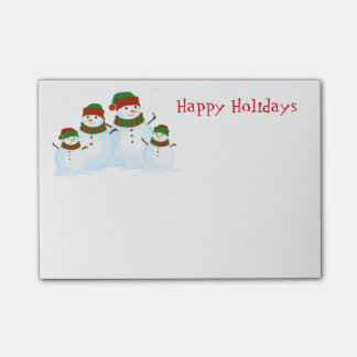 Holiday Snowmen Post-it-Notes Post-it Notes
