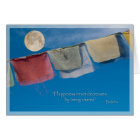 Holiday Solstice Tibetan Prayer Flags Card