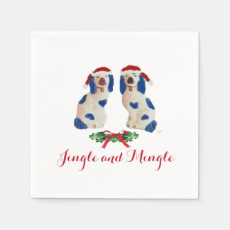 Holiday Staffordshire Dogs by Redux121DesignStudio Paper Napkins