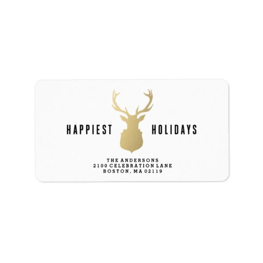 Holiday Stag | Holiday Address Labels