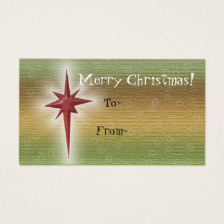 Holiday Star Gift Tags