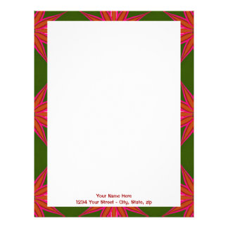 Holiday Star Pattern Letterhead