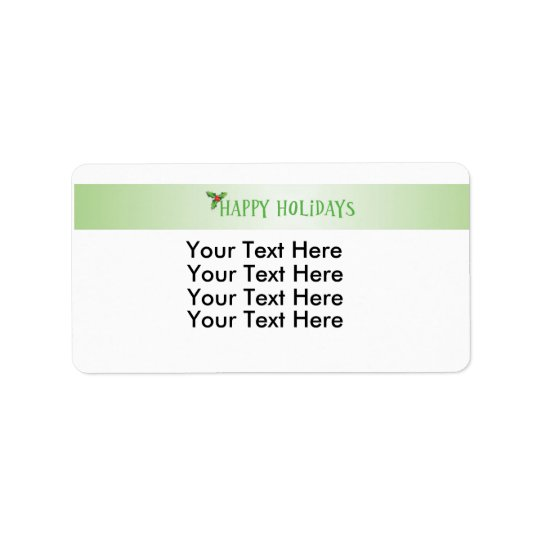 Holiday Stationary Design Labels