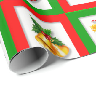 Holiday Stockings & Bells Wrapping Paper
