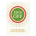 Holiday Store Coupon Business Card