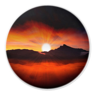 Holiday Sunlight Ceramic Knob