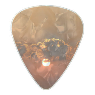 Holiday Sunset Pearl Celluloid Guitar Pick