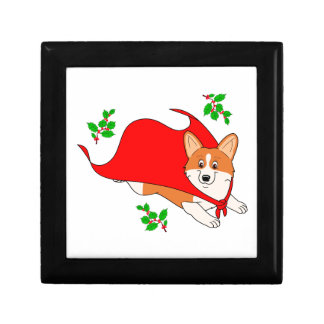 Holiday Super Corgi with Cape Gift Box
