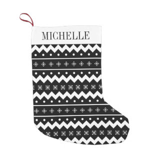 Holiday Sweater Pattern Christmas Stocking