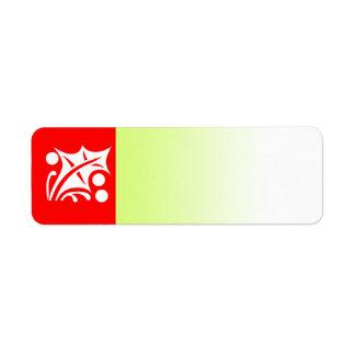 Holiday Symbol Label Holly Leaf Return Address Label