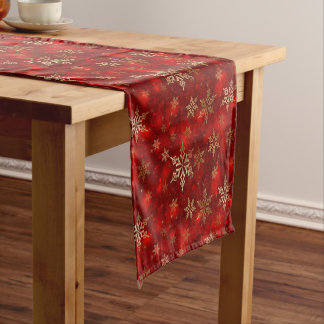 Holiday Table Runner-Snowflakes Short Table Runner