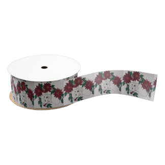 Holiday Terrier Ribbon Grosgrain Ribbon