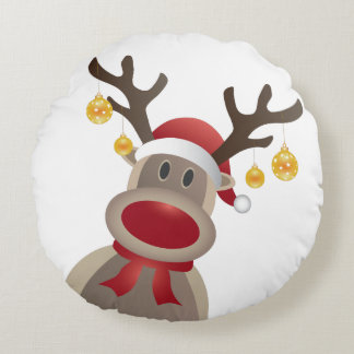 Holiday Throw Pillow with Reindeer