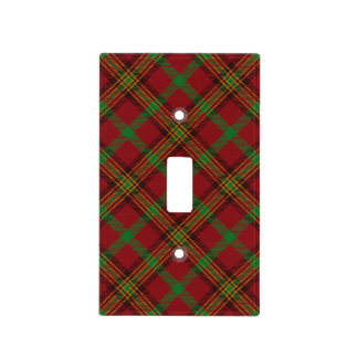 Holiday Traditional Christmas Tartan Pattern Light Switch Cover