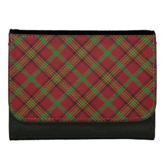Holiday Traditional Christmas Tartan Pattern Women's Wallet
