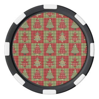 Holiday Traditional Christmas Tree Pattern Poker Chips