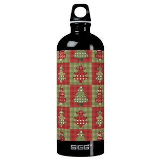 Holiday Traditional Christmas Tree Pattern Water Bottle