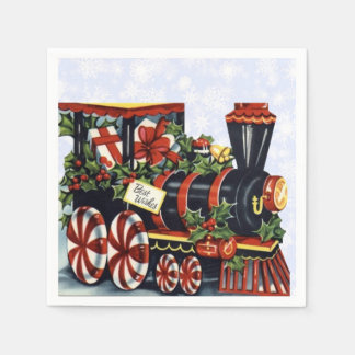 Holiday Train Disposable Napkins
