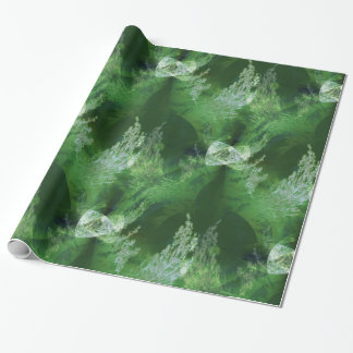 Holiday trees from another galaxy... wrapping paper