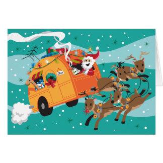 Holiday Trip Retro Christmas Card
