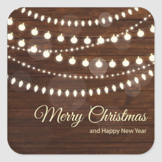Holiday Typography trendy Christmas Square Sticker