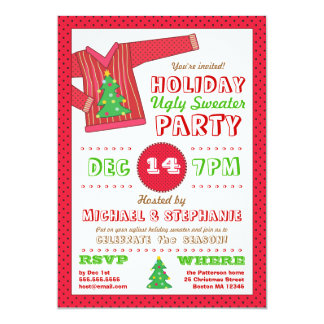 Holiday Ugly Sweater Christmas Party Invitation