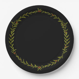 Holiday Vine Paper Plates