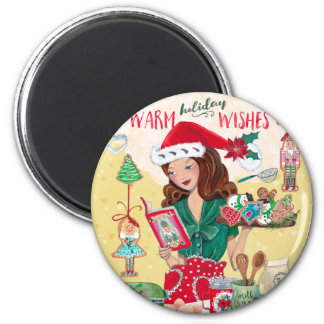 Holiday Warm Wishes Christmas   Magnet