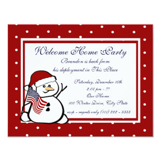 "Holiday Welcome Home Military 4.25"" X 5.5"" Invitation Card"