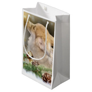 Holiday Welsh Corgi Puppy Small Gift Bag