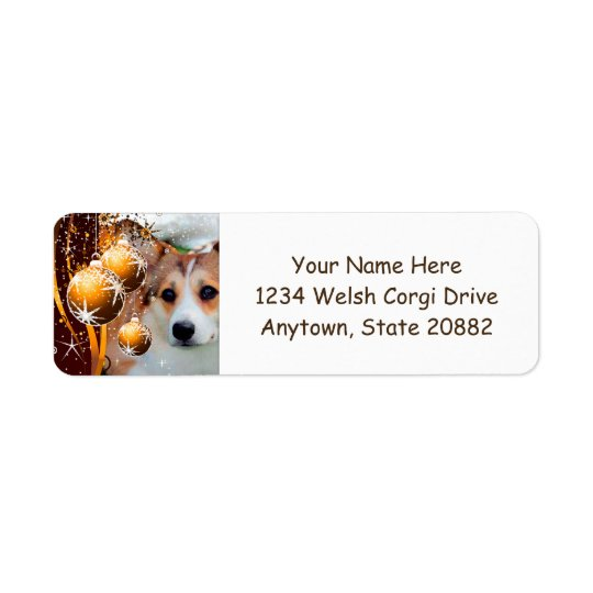 Holiday Welsh Corgi with Ornaments