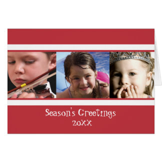 Holiday White Stripe Folded Card