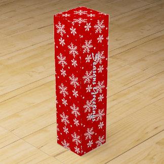 Holiday Wine Box Custom Christmas Snowflake Box