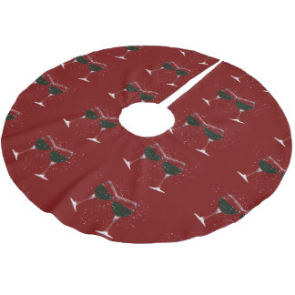 Holiday Wine Cheer Christmas Tree Skirt