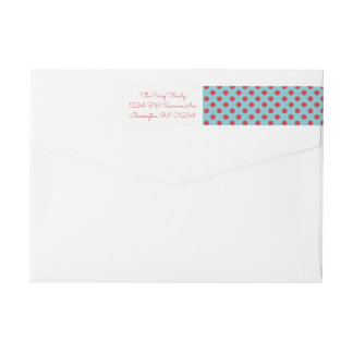 Holiday Winter Wishes Wrap Around Address Label