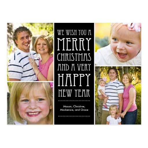 Holiday Wishes Christmas Photo Card Postcard Post Cards