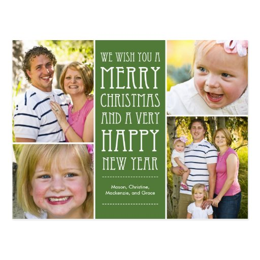 Holiday Wishes Christmas Photo Card Postcard Postcards