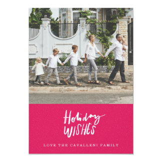 Holiday Wishes Holiday Photo Card - Light