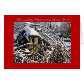 Holiday Wishes Our House to Yours Card