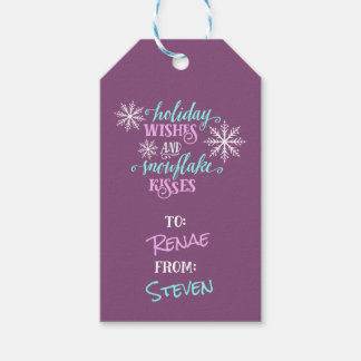 Holiday Wishes Snowflake Kisses Personalized Gift Gift Tags