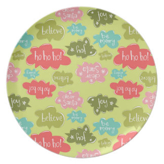 Holiday Word Bubbles Plates