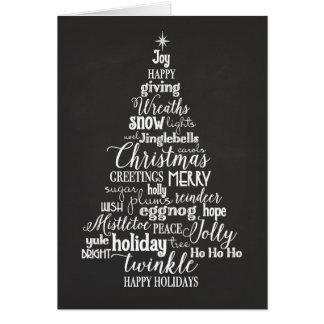 Holiday Word Tree folded Card